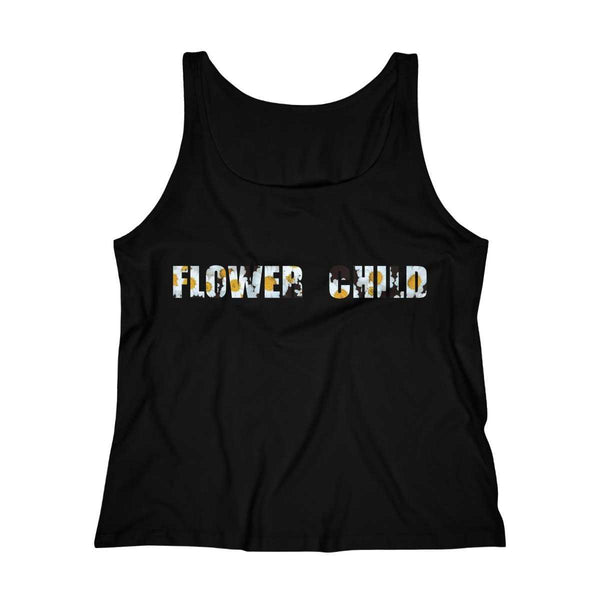 Flower Child Relaxed Jersey Tank - Daisy - shopcontrabrands.com