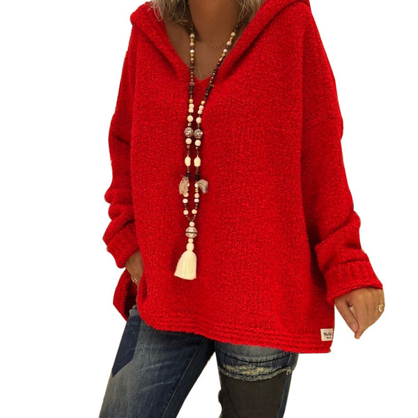 Ladies Oversized Knit Pullover