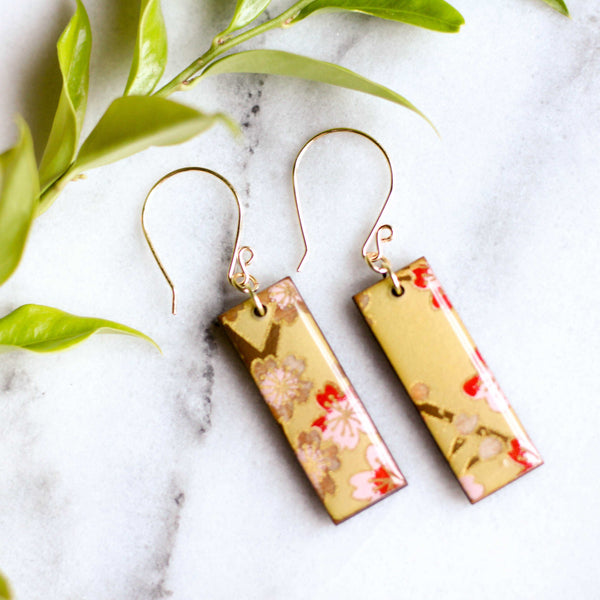 Pear Cherry Blossom Earrings | shopcontrabrands.com