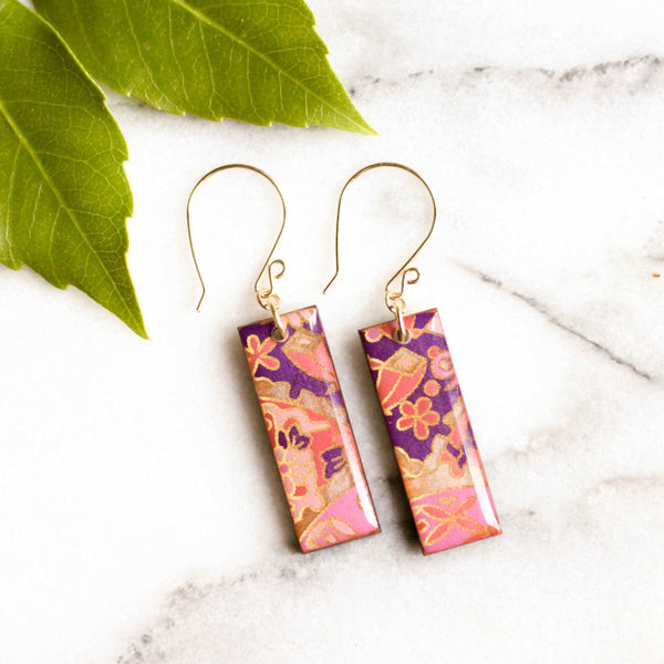Pink, Purple & Gold Earrings | shopcontrabrands.com