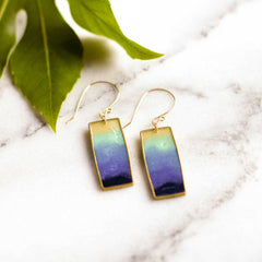 Blue Lagoon Rectangle Earrings - shopcontrabrands.com