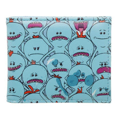 Rick and Morty Mr Meeseeks AOP Pattern Bi-Fold Wallet | shopcontrabrands.com