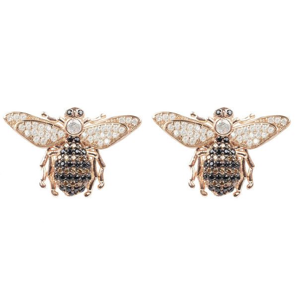 Honey Bee Stud Earrings Rosegold - shopcontrabrands.com