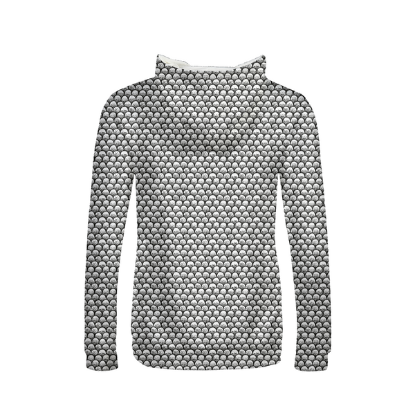 Stippled Scales in Monochrome Women's Hoodie | contrabrands