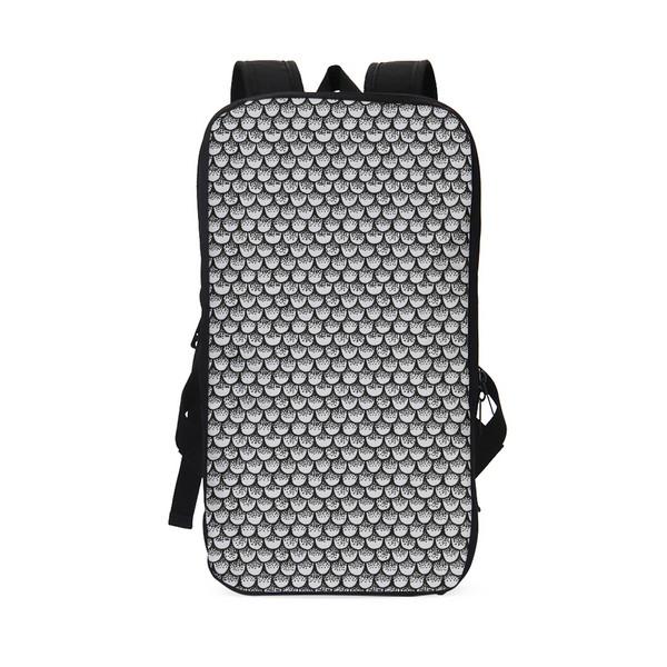 Stippled Scales in Monochrome Slim Tech Backpack | shopcontrabrands.com