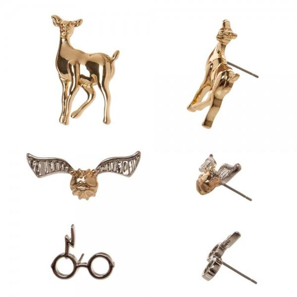 Harry Potter Elements 3 Pack Earring Set - shopcontrabrands.com