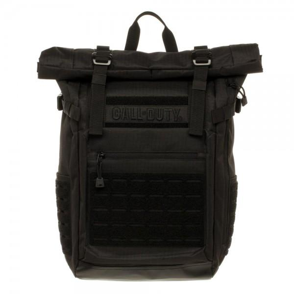 Call of Duty Black Military Roll Top Backpack with Laser Cuts - shopcontrabrands.com