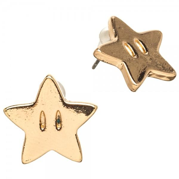 Nintendo Super Mario Star Earrings | shopcontrabrands.com