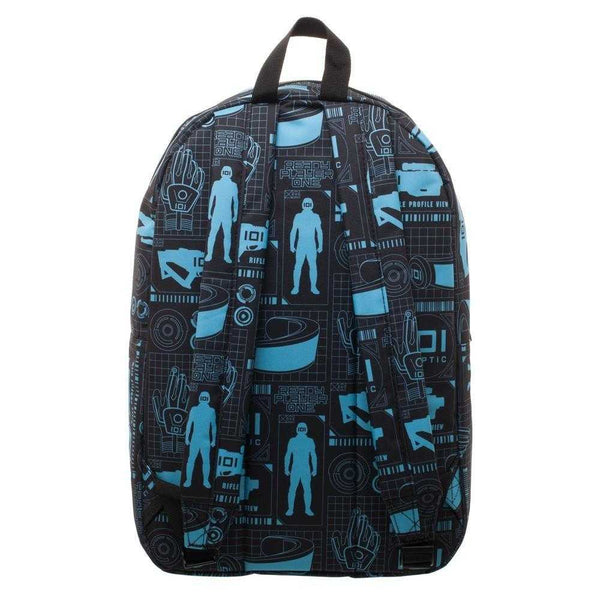 Innovative Online Industries Pattern Backpack, Sublimated Backpack with Gaming Grid Design, MMORPG Virtual Reality - shopcontrabrands.com