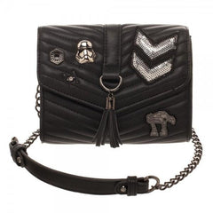 Dark Side Quilted Crossbody Bag with Tassel - shopcontrabrands.com