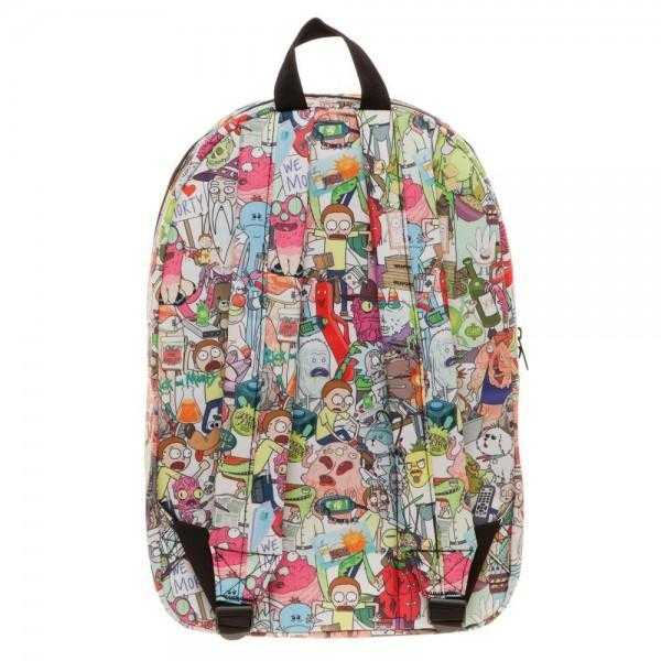 Rick & Morty Subliimated Backpack | shopcontrabrands.com