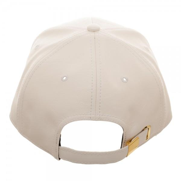 Mario Metal PU Leather Dad Hat - shopcontrabrands.com