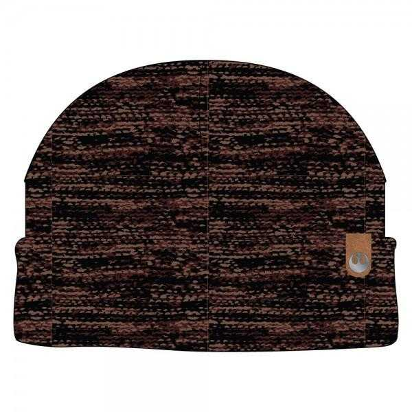 Rebel PU Leather Label Metal Watchmen Knit Cap | shopcontrabrands.com