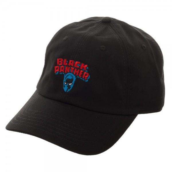 Black Panther Logo Embroidered Dad Hat - shopcontrabrands.com