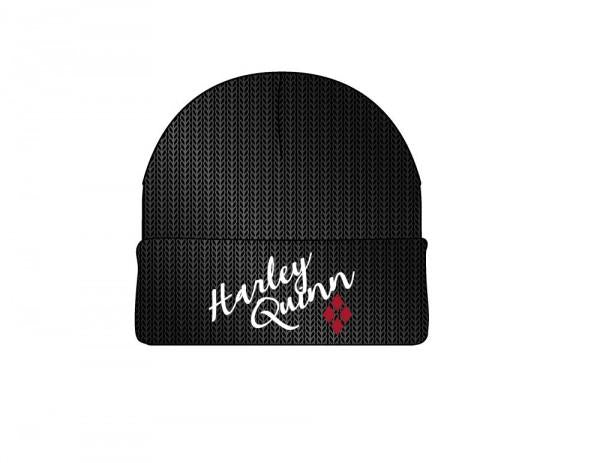 Harley Quinn Metallic Coated Beanie - shopcontrabrands.com