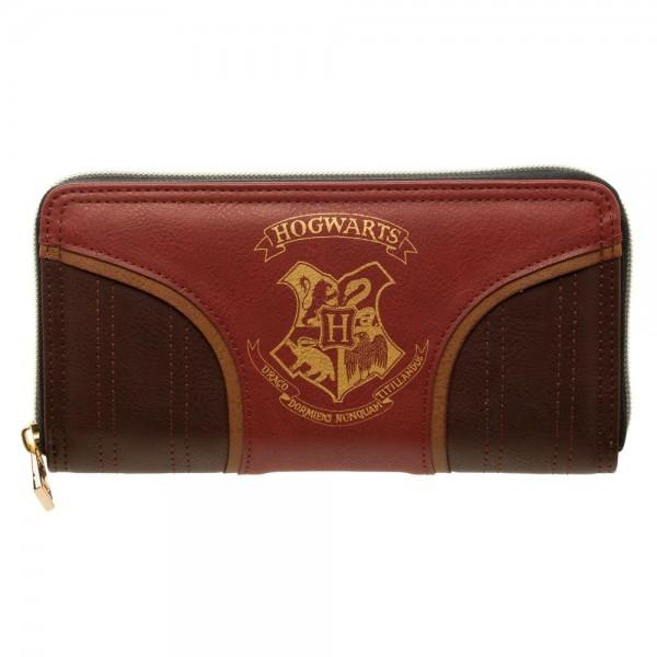 Harry Potter Gold Hogwarts Crest Juniors. Zip Wallet - shopcontrabrands.com