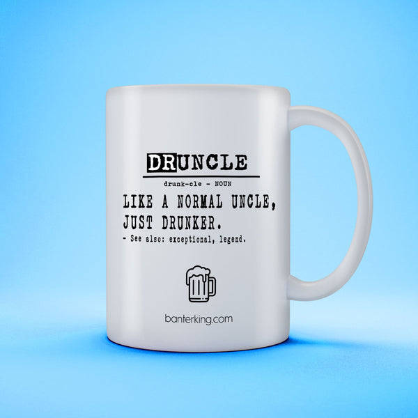 DRUNCLE MUG Mug The Mug Printing Company Plain