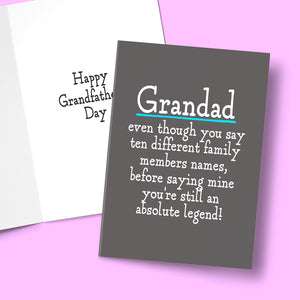 GRANDAD LEGEND CARD Card BanterKing