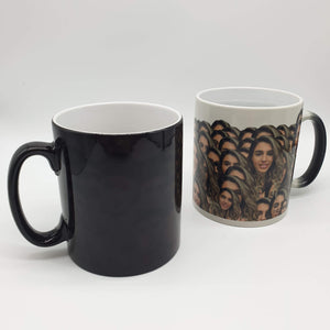 "(ADD ANY FACE) GET 15% OFF USE CODE ""SUMMER12"" PERSONALISED HEAT SENSITIVE MUG"