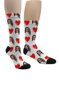 (ADD ANY FACE) MAKE YOUR OWN HEART SOCKS