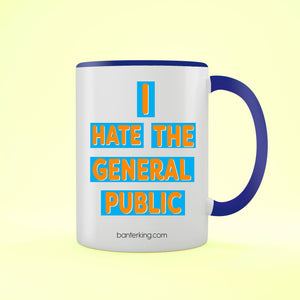 GENERAL PUBLIC TWO TONED MUG Mug BanterKing Blue 1 MUG