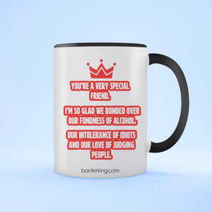 YOU'RE A VERY SPECIAL FRIEND TWO TONED MUG Mug BanterKing Black 1 MUG