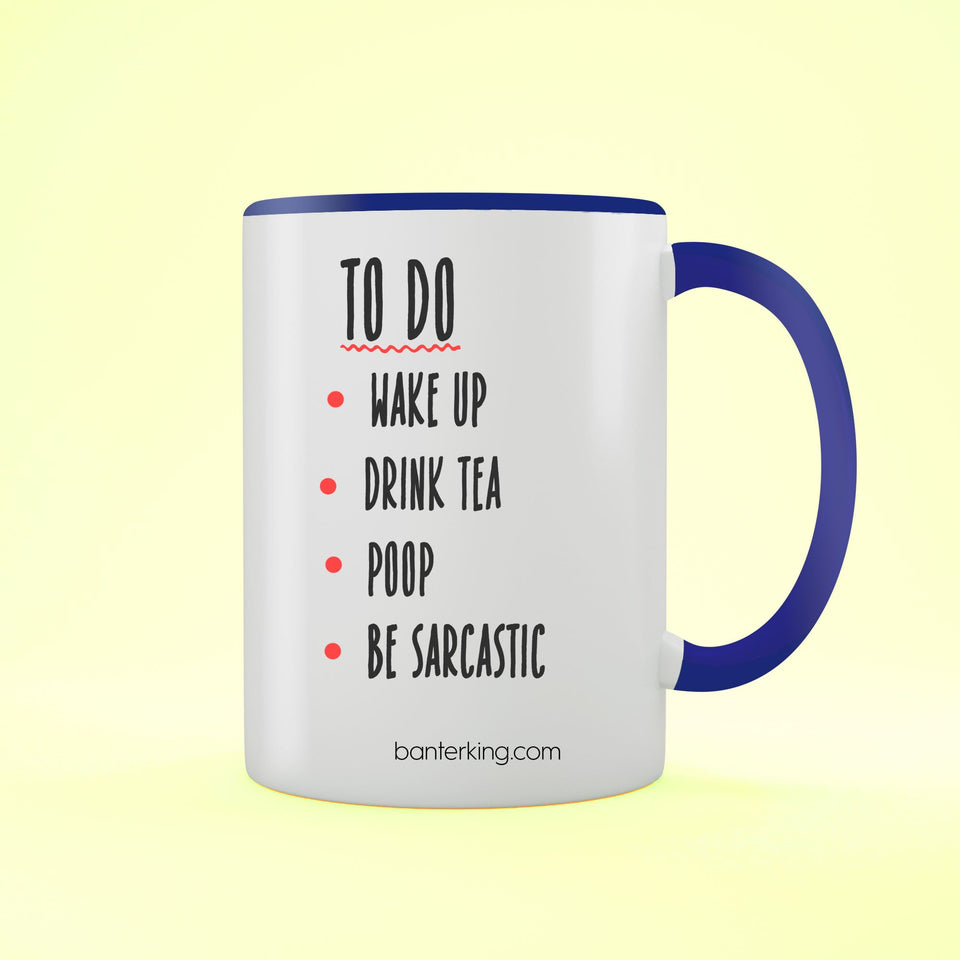 TO DO TWO TONED MUG Mug BanterKing Blue 1 MUG