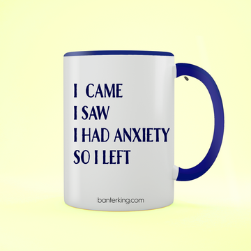 I CAME I SAW TWO TONED LARGE 11 OZ BANTER MUG