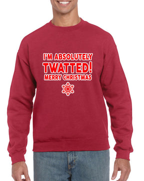 TWATTED CHRISTMAS SWEATER BanterKing SMALL RED 1 JUMPER