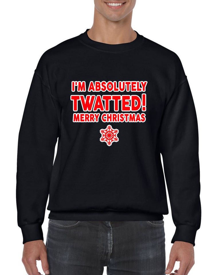 TWATTED CHRISTMAS SWEATER BanterKing SMALL BLACK 1 JUMPER