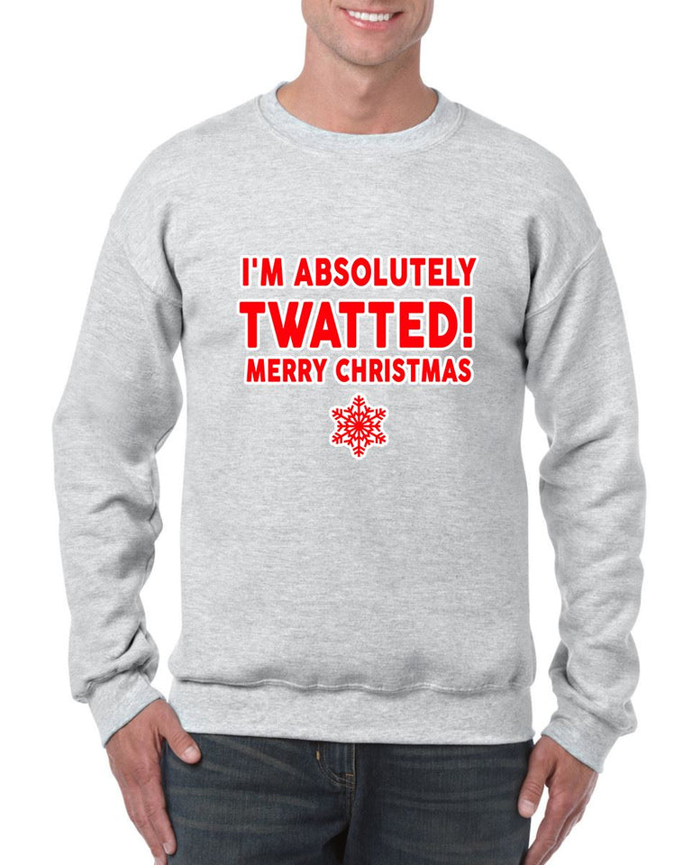 TWATTED CHRISTMAS SWEATER BanterKing SMALL GREY 1 JUMPER