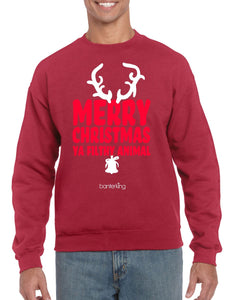 MERRY CHRISTMAS YA FILTHY CHRISTMAS JUMPER BanterKing SMALL RED 1 JUMPER