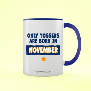 TOSSER NOVEMBER TONED LARGE 11 OZ BANTER MUG Mug BanterKing Blue 1 MUG