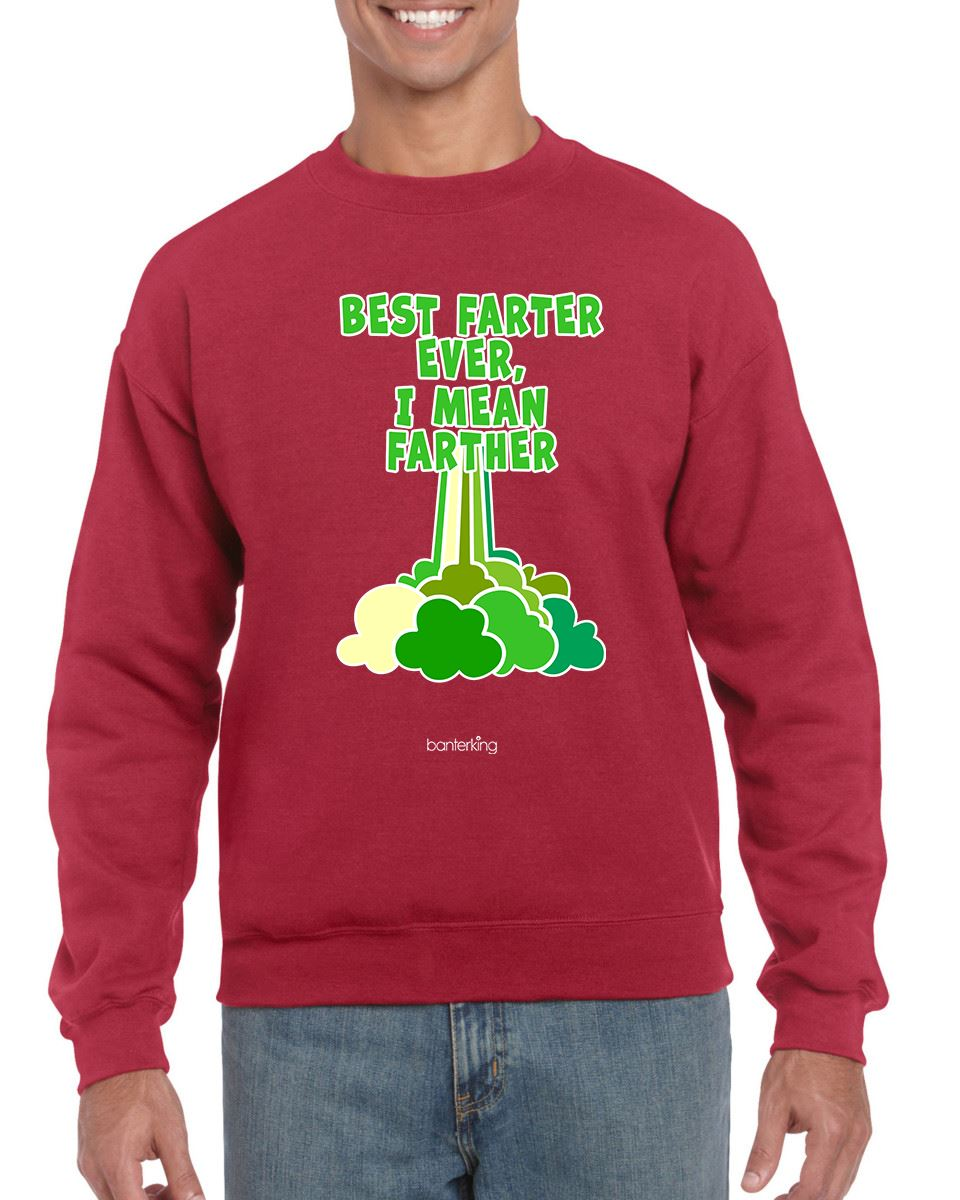 BEST FARTER CHRISTMAS JUMPER BanterKing SMALL RED 1 JUMPER