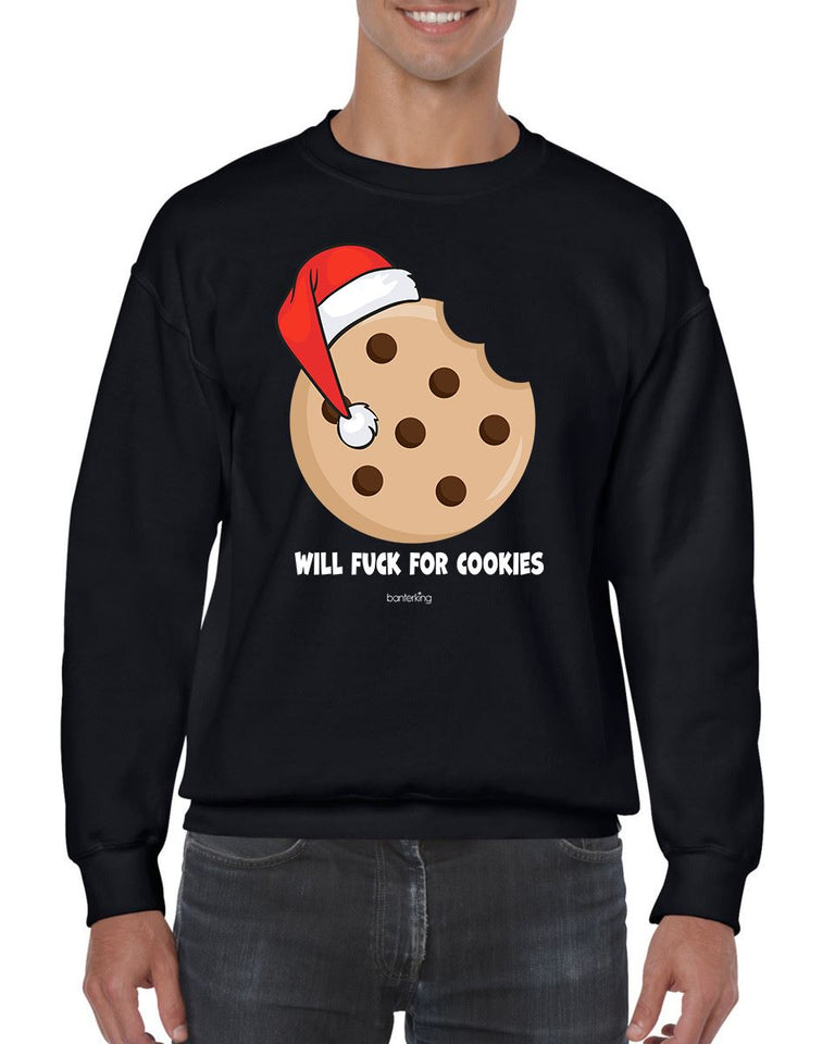 WILL F FOR COOKIES CHRISTMAS JUMPER BanterKing SMALL BLACK 1 JUMPER