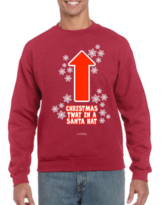 CHRISTMAS TWAT CHRISTMAS JUMPER BanterKing SMALL RED 1 JUMPER