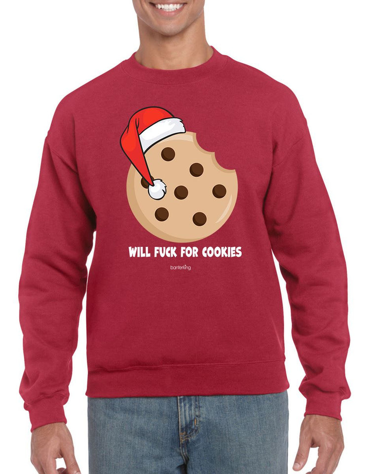 WILL F FOR COOKIES CHRISTMAS JUMPER BanterKing SMALL RED 1 JUMPER