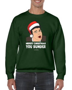 MERRY CHRISTMAS BUMDER CHRISTMAS JUMPER BanterKing SMALL GREEN 1 JUMPER