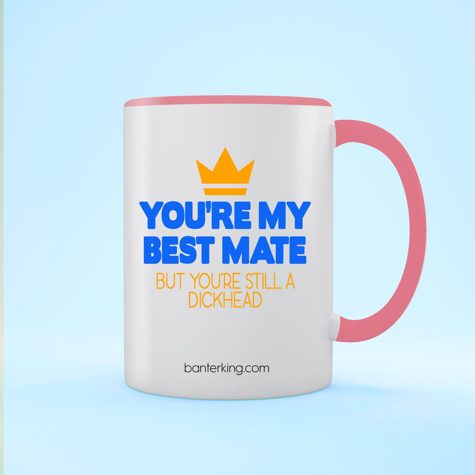 YOU'RE MY MATE BUT TWO TONED LARGE 11 OZ BANTER MUG Mug BanterKing Pink 1 MUG
