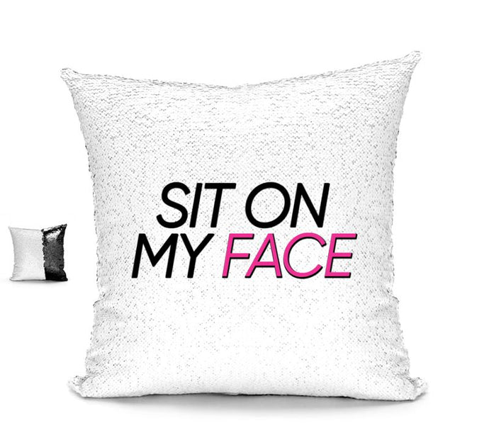 SIT ON MY FACE CUSHION Cushions BanterKing Black/White No