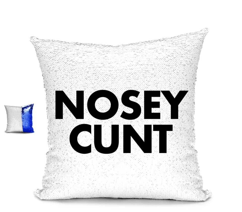 NOSEY CUNT CUHSION Cushion BanterKing Blue/White No