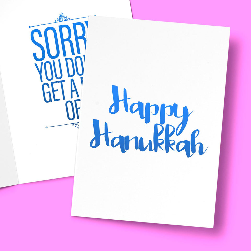 HAPPY HANUKKAH CARD Card BanterKing
