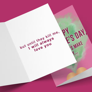 HAPPY VALENTINE'S DAY YOU FARTS MAKE ME CRY CARD Card BanterKing