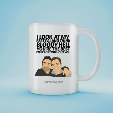 I LOOK AT MY BEST PAL 11OZ LARGE MUG
