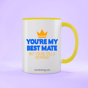 YOU'RE MY MATE BUT TWO TONED LARGE 11 OZ BANTER MUG Mug BanterKing Yellow 1 MUG