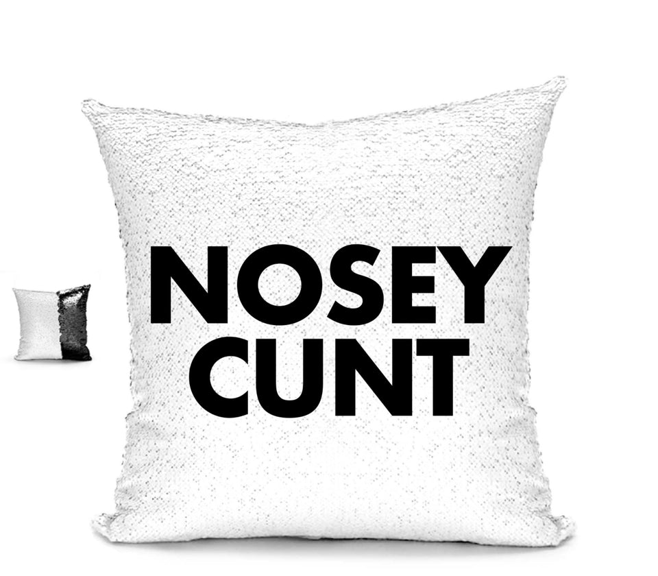 NOSEY CUNT CUHSION Cushion BanterKing Black/White No