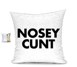 NOSEY CUNT CUHSION Cushion BanterKing Gold/White No