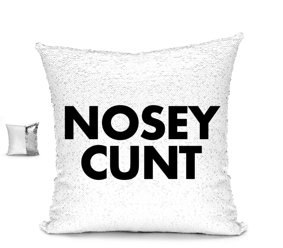 NOSEY CUNT CUHSION Cushion BanterKing Silver/White No