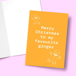 MERRY CHRISTMAS TO MY FAVE GINGER CARD Card BanterKing 1 CARD