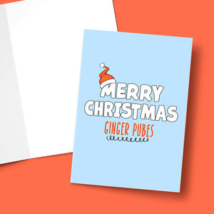 GINGER PUBES CHRISTMAS CARD Card BanterKing 1 CARD